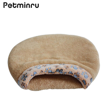 Petminru Autumn winter warm Paw Print dogs house Pet Beds Sofas Waterproof pet nest Mats Soft Dog Kennel Cat Sleeping Bag(China)