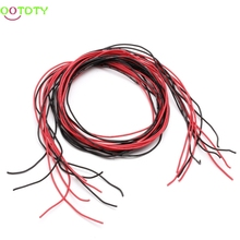 24AWG Silicone Gauge Flexible Stranded Wire Copper Cable 10 Feet Fr RC Black Red 1.5m Black Wire and 1.5m Red Wire