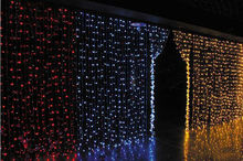 220V LED waterfall light Christmas Lights 6m*3m 880LED With 8 Modes for Holiday/Party/Decoration curtain background light EU US(China)