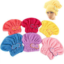 New Colorful Hair Styling Turban Quickly Dry Hair Hat Wrapped Towel Bath Cap Home Bathing Tools