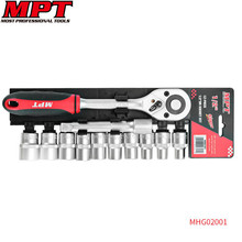 "Mpt 12PCS 1/2"" Socket Tool Set Ratchet Key Wrench Torque Ratchet Spanner Head for Bicycle Motorcycle Car Repairing Key Tool Set(China)"