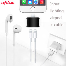Buy Audio Adapter Mic Jack Earphone Charger Cable Dual Lighting Music Charging Input Cables Support ios 10.3 iPhone 7 7Plus for $9.90 in AliExpress store