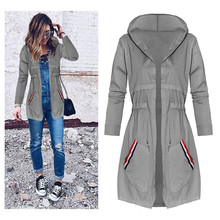Buy New Autumn Women Long Trench Coats Medium Length Slim Windbreaker Street Fashion Casual Outwear Long Sleeves Warm Pocket Hooded for $16.07 in AliExpress store
