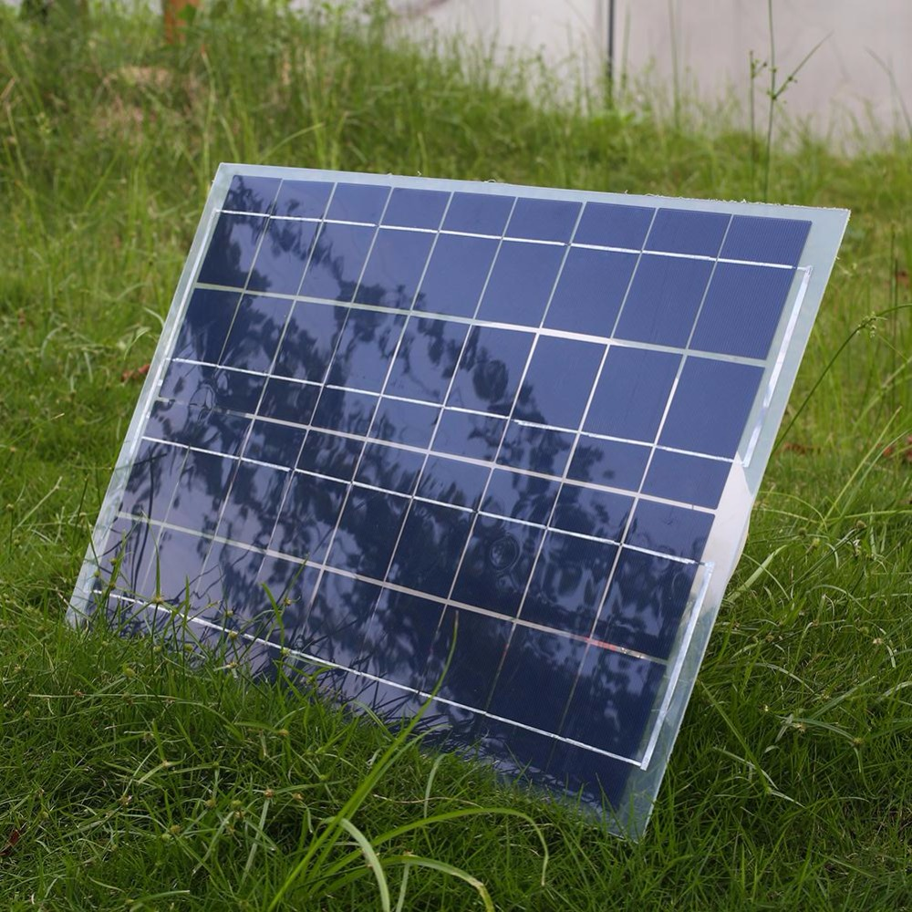 18V 30W Portable Smart Solar Power Panel Car RV Boat Battery Bank Charger Universal W/Alligator Clip<br><br>Aliexpress