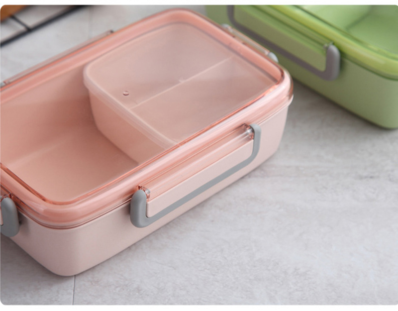 TUUTH New Microwave Lunch Box Independent Lattice For Kids Bento Box Portable Leak-Proof Bento Lunch Box Food Container A10