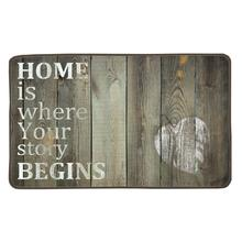 Love Home Letter Chic Old Wooden Floor Print Custom Doormat Non-slip Pad Floor Mat Hallway kitchen Living Room Carpet Mats Tapis