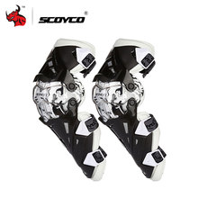 SCOYCO Motorcycle Knee Pad CE Motocross Knee Guards Motorcycle Protection Knee Motor-Racing Guards Safety Gears Race Brace(China)