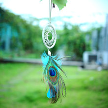 Handmade Flax Dream Catcher Net feather Hanging Peacock Wall Native Decoration Ornament Dreamcatcher