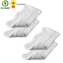 4 pcs Microfiber White Mop Pads for Euro Pro Shark Steam Cleaning Compatible Replacement Mop S3250 S3101 S3202 Series