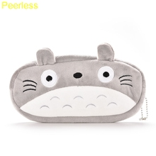 Peerlesss Plush Cartoon Animals TOTORO Kids Pen Pencil BAG Case GIFT Lady Girl's Cosmetics Purse & Wallet Coin Holder Pouch BAG(China)