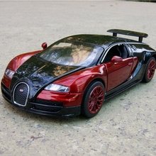 New Collection Alloy Diecast Car Model Kid Gifts 1/32 Bugatti Veyron Diecast Car Toy with Light /Sound