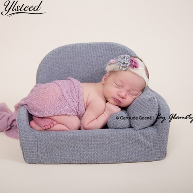 Pink Newborn Baby Photo Shoot Props Baby Handmade Lace Small Pillow+Hat Photography Props,