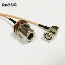 RF Wireless Antenna Cable BNC male right angle RA Switch N Type Female bulkhead RG316 15cm 6inch(China)