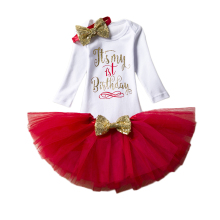 Fancy Baby Girl Clothing Sets Little Girl Long Sleeve Tutu Baby Sets Infant Party Costume Toddler Girl First Birthday Outfits(China)