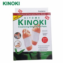 1 box Kinoki Detox Foot Pads Patches with Retail Box and Adhesive/Cleansing Detox Foot Pads(10pcs Pads+10pcs Adhesive) C059(China)
