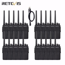 20 pcs 10W Retevis RT81 Professional Walkie Talkie 10km IP67 2200mAh UHF400-470MHz Encryption Two Way Radio+A Programming Cable