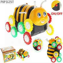 POPIGIST Electric Universal Electric Toy Cars Bee Stunt Cars Skip Automatically Bucket Cartoon Model Encounter Obstacle Flip(China)