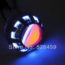 Brand Angeleye Super HID Bi Xenon Motorcycle Projector Lens Kit New + CCFL Angel eyes + Devil eyes(China)