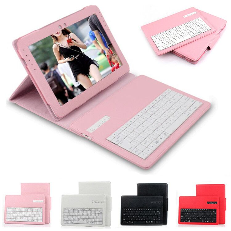 Wireless Bluetooth Keyboard Case For Samsung Galaxy Note 10.1 2014 Edition P600 P601 P605 T520 PU Leather Case with keyboard<br>