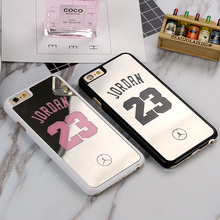 NBA Brand Michael Jordan 23 Cases Cover For iPhone 6 6 Puls 5 5s SE PC Hard Plastic Mirror Phone Cases Covers Fundas Shell