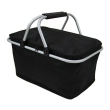 46cm x 28cm x 24cm Folding Picnic Camping Insulated Cooler Cool Hamper Storage Basket Bag Box outdoor picnic bags(China)