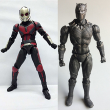 17cm Ant man Black Panther figma X men TChalla superman antman spiderman deadpool harley PVC action Figures Collection Model toy