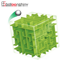 Rolling Labyrinth Cube Ball Balance Brain Teaser Puzzle Game Kids 3D Maze Magic Cube Toys Birthday Novel Gift Baby Educational