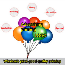500 PCS/batch Custom Advertising Balloons Promotion Balloon Printing ballons baby Latex Balloon Logo(China)
