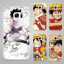 One Piece Luff Hard White Coque Shell Case Cover Phone Cases for Samsung Galaxy S4 S5 S6 S7 Edge Plus(China)