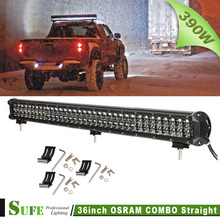 "2016 Sale Real 4D 36"" 390w Led Light Bar Offroad Combo Beam 78x5w Work For Trucks Suv Atv 4x4 4wd Driving Headlight"