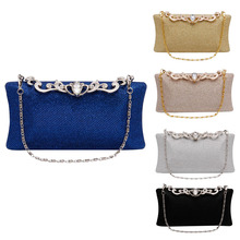 Women Clutch Bag Rhinestone Party Prom Handbag Wedding Evening Purse Hardcase
