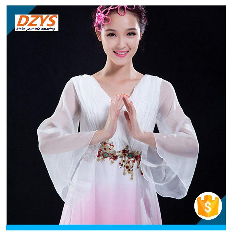 Women\`s new elegant modern dance costume sleeves dance dress08