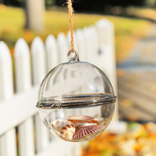 Dia8cm Openable Glass bauble wedding party decoration baubles christmas tree pendant ornaments fillable (Only glass)(China)