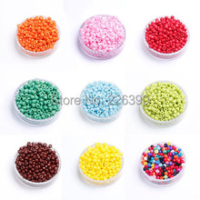 Pick Colors 50Gram/lot (Approx.3200pcs) 2.5mm Crystal Glass Czech Seed Spacer Loose Round Beads Beading Fit For jewelry DY Y891(China)