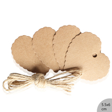 50pcs DIY   Food Label Wedding Gift cake box Decorating Tag Packaging Label Brown Kraft Paper Tags  love hearts 5.5*6cm brown