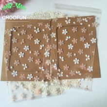 100pcs/lot 12*18cm Transparent Cherry Blossoms OPP for DIY Gift Package Plastic Bags Candy and Cookie Packaging bags BZ003(China)