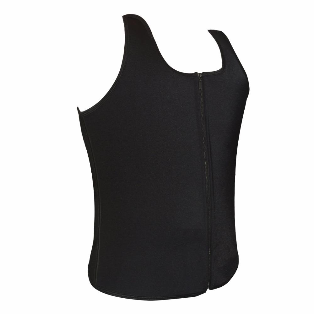 Latex Waist Cincher Men Rubber Bone Hot Fat Burning And Control Slimming Fit Vest Body Shaper Zipper Close Underwear Bustier 6XL (5)