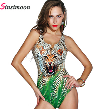 Polka dot women new sexy leopard print wild design digital retro vintage one piece bathing suit bodysuit high quality beachwear