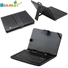 10.1'' Inch Android Tablet PC PU Leather Case Cover USB Keyboard Stand jn14(China)