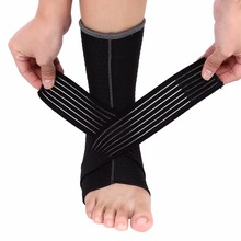 Elastic Nonslip Ankle Support With Compression Wrap Ankle Brace Pad Foot Protection Sports Safety L Size