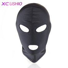 Lightweight Elastic Spandex Sex Mask Head Hood Fetish Headgear Harness Bondage Cosplay Party Mask Adult Game Sex Toys for Couple(China)