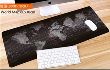 Super large 900x400mm World Map rubber mouse pad computer game tablet mouse pad with edge locking