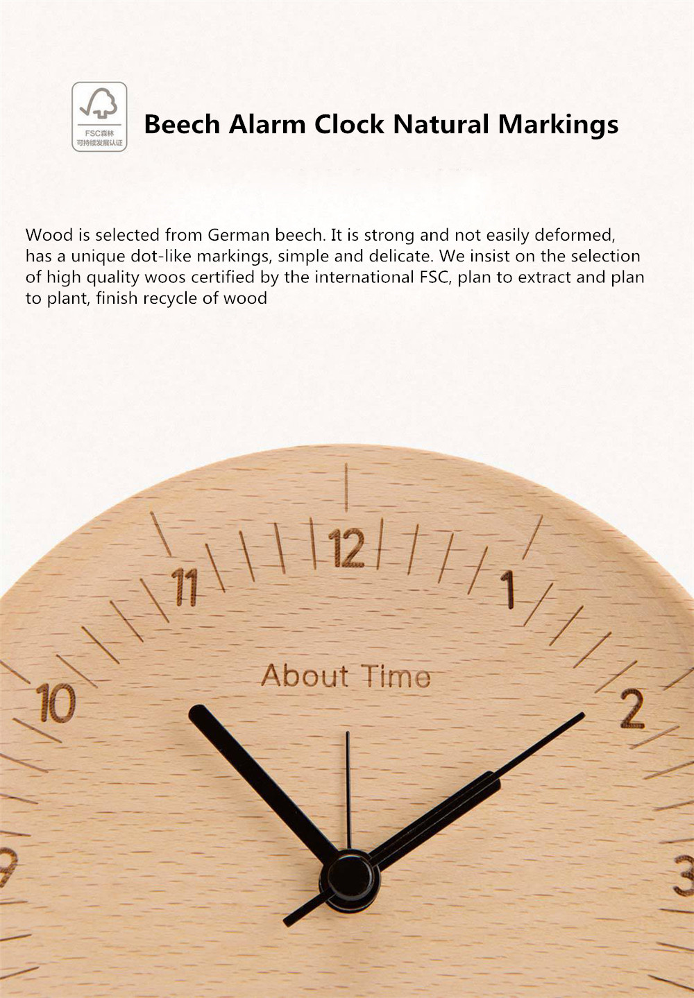 Xiaomi Mute Wooden Alarm Clock (3)