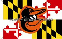 Baltimore Orioles Nation Flag 3x5 Banner Flag(China)
