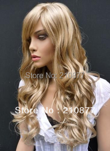 free shipping Best Selling Glamorous Long Blonde Wavy 24 Inches Hair Wig<br><br>Aliexpress