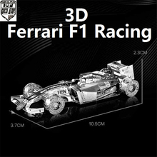 New Listing 3D Metal Puzzle For F1 Racing Model DIY Brain Puzzles metalic Cars Boats jigsaw High quality model gifts