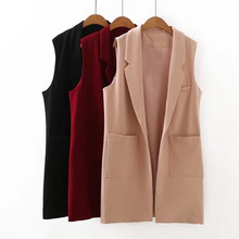 Plus Size 5XL Spring Women's Vest Long Female Vest Waistcoat for Women Large Size Sleeveless Cardigan Vests Lady's Coat Female(China)