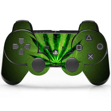 Green Weed Vinyl Skin Sticker Cover For Sony PS3 Controller Skin For Playstation 3 Gamepad Decal Joystick Controle Accessories