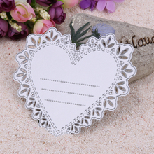 Lace Heart Metal Stencils Cutting Dies for DIY Scrapbooking Wedding Invitation Decorative Dies Craft Embossing Card Cutter