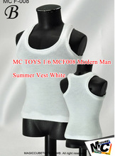 "Magic Cube Toys Fashion Male Vest Type B White 1/6 Scale MC F-008 Fit 12"" Figure Body Clothes"